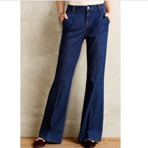 Anthro Level 99 Tanya Flare High-Rise Trousers
